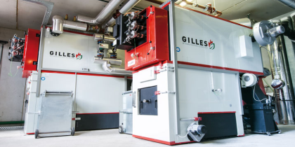Gilles Biomass Heating Banner